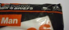 Nos Vtg White 100% Cotton Hanes 1990 Bigman sz 3x 50-52 Waist Us Made Briefs