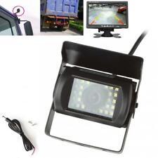 Car Rear View Reverse LED Reversing Camera Night Vision 12/24V RV Bus Truck Van
