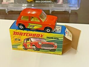Matchbox Lesney Superfast, Racing Mini #29 , Original Box (1970)