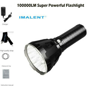 IMALENT MS18 Super Powerful 100000 LM LED Rechargeable Flashlight Outdoor Lamp