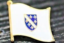BOSNIA Bosnian Metal Flag Lapel Pin Badge *NEW*