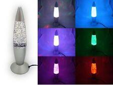 USB Multi Color Changing LED Glitter Lava Lamp Party Mood Night Light Decorat@JB