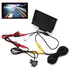 "4.3"" TFT LCD Color Display 2 In 1 Monitor+Waterproof Rearview Camera Car Parking"