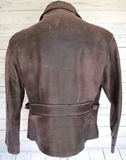 Vintage HERCULES Front Quarter HORSEHIDE Cinch BACK LEATHER MOTORCYCLE Jacket LG