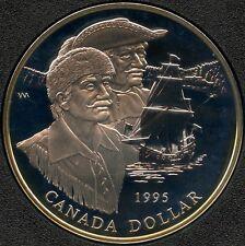 1995 Canada Proof Silver Dollar ( Hudson's Bay 325th ) 25.175 Grams .925