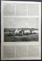 1889 ILN Antique Print The Canterbury Yeomanry Cavalry, New Zealand