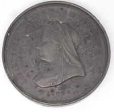 RARE EXTRA LARGE 1897 QUEEN VICTORIA DIAMOND JUBILEE MEDALLION 68mm
