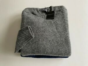 Gents Shetland Wool  Crew neck Sweaters Saddle Shoulders made in Scotland