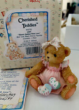 "Cherished Teddies ""Amy"" Hearts Quilted With Love #910732 1992"