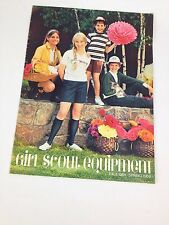 VTG Girl Scout USA Equipment Catalog 1968 1969 Mid Mod Uniform Guide Magazine