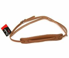NEW Strap FENDER DLX VINTAGE - leather natural - 0990664021 for guitar or bass