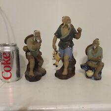 Three Vintage Chinese Figures mud men