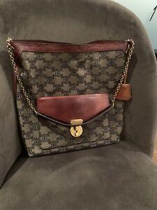 CELINE Tote Medium Bag Farfetch Net A Porter handbag monogram canvas RRP £1590