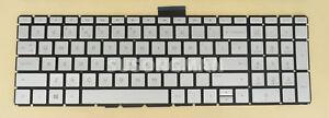 For HP 15-cc034na 15-cc035na 15-cc036na 15-cc037na Keyboard UK Backlit Silver