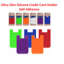 Phone Credit Card Holder Case Stick Silicone Wallet Cash Pocket Iphone Samsung