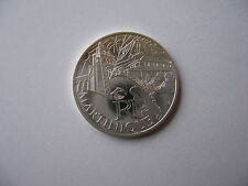 10 EUROS MARTINIQUE MONUMENTS ARGENT DES REGIONS 2011
