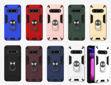 For LG V60 Phone Case Shockproof Armor Cover Magnetic Support Metal Ring Stand