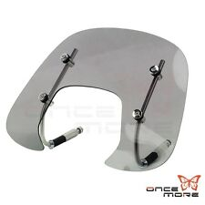 Motorcycle Smoked windshield  Flyscreen Wind Protection Fit  Vespa Primavera 150