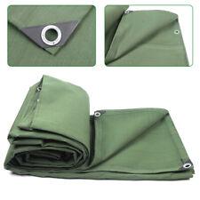 18 oz Heavy Duty Waterproof Canvas Tarp Cover 12x16ft Sunscreen Mildew Green Usa