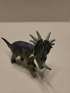 "Styracosaurus Dinosaur 1996 Safari Ltd 6"" Figure Hard Rubber A10"