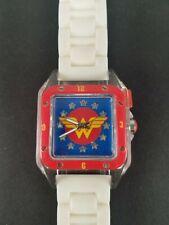 RARE MISPRINT DC Comics Accutime Ladies Wonder Woman Light Up Watch Clear Case