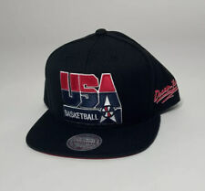 Mitchell & Ness USA Basketball Dream Team Mens Adjustable Black Snapback Hat NEW