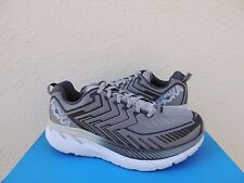 HOKA ONE ONE CLIFTON 4 GRIFFIN GREY RUNNING SHOES, MEN US 10.5/ 44 2/3 ~NEW