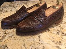 Mauri Made In Italy Men's Alligator Dress Shoes Oxfords Vibram Soles Brown 8.5 M