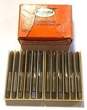 Brubaker 1/4-28NF Hand Tap HSS Plug Taps GH5 3 Flute USA Made 12 Pack