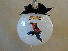 "VERY Unique Handmade Spider-Man 3"" Glass Round Ornament, Made In The USA, NEW!"
