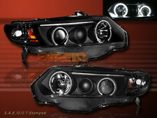 06 07 08 HONDA CIVIC PROJECTOR HEADLIGHTS BLACK CCFL TWO HALO 2DOOR 2006-2008