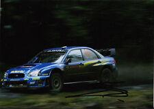 Stephane Sarrazin Hand Signed Subaru World Rally Team Photo 7x5.