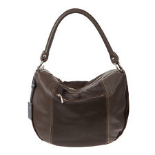 ARCADIA Italian Made Natural Brown Leather Authentic Designer Hobo Bag Handbag