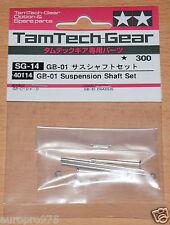 Tamiya 40114 GB-01 Suspension Shaft Set, (Tamtech-Gear/GB01/GB02/GB03), NIP