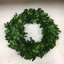 """10"""" Preserved Boxwood Wreath Topiary Garden Green Door Hanger Wall Decor"""