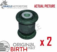 2 x BIRTH FRONT AXLE CONTROL ARM WISHBONE BUSH PAIR GENUINE OE QUALITY - 2384