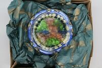 """Charles Morse """"Tiffany"""" Museum of Art Stained Glass Ashtray NIB"""