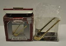 Gold Plated Golf Clubt Memo Holder/ or Card Holder Unused
