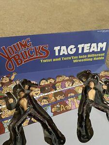 Young Bucks LJN figures NEW SEALED retro inspired wrestling toys AEW NJPW Elite