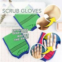 Exfoliating Body Scrub Gloves Shower Bath Mitt Loofah Skin Massage Sponge Spa