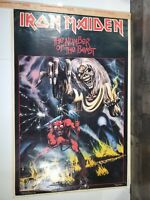 Original Vintage 1982 Iron Maiden Number Of The Beast Fan Club Poster