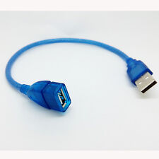 30CM USB 2.0 USB Male TO Female Extension Cord Cable For PC MAC Laptop blue