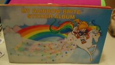 Vintage Rainbow Brite Sticker Album & Stickers, Hallmark, 1983