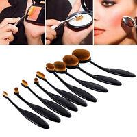 10x Profi Foundation Oval Pinsel Puderpinsel Kosmetik Brush Make Up