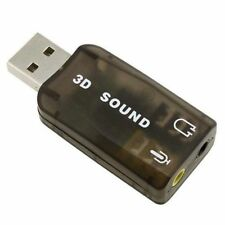 USB 2.0 Audio Adapteur Carte son externe 5.1 audio 3D sound stereo (G413)