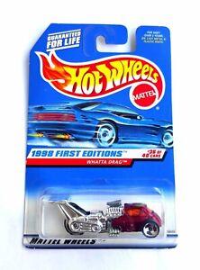 Hot Wheels 1/64 3 inch Whatta Drag , '98 HW First Editions