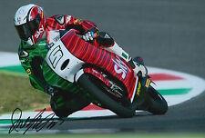 Romano Fenati mano firmato FOTO 12X8 VR46 TEAM KTM MOTO3 2015 / 50 7.