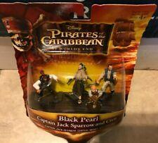 Pirates of The Caribbean Black Pearl Figure Set Captain Jack Sparrow Crew NEW