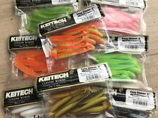 "KEITECH Lures Easy Shinner 3"" 10pcs JAPAN Strong Squid scented Drop Shot jig"