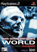 Sven Goran Eriksson's World Manager PS2 (Playstation 2)- Free Postage- UK Seller